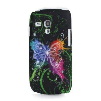 Skal Samsung Galaxy S3 Mini Färgglad fjäril