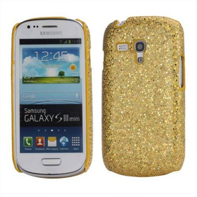 Skal Samsung Galaxy S3 mini guld glitter