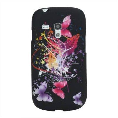 Skal Samsung Galaxy S3 Mini svart med fjärilar