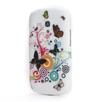 Skal Samsung Galaxy S3 mini vit/fjärilar