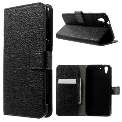 Plånboksfodral Lychee till HTC Desire Eye Svart