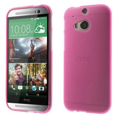Skal HTC One (M8) TPU gel rosa