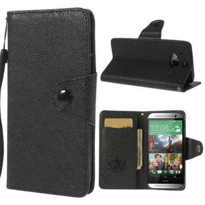 Plånboksfodral MLT HTC One (M8) Svart