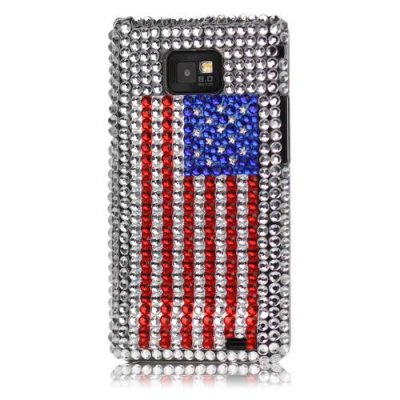 Skal Samsung Galaxy S2 USA flagga strass