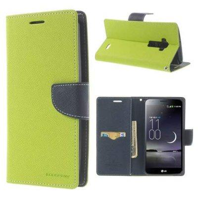 Plånboksfodral till LG G Flex Mercury Fancy Diary Grön