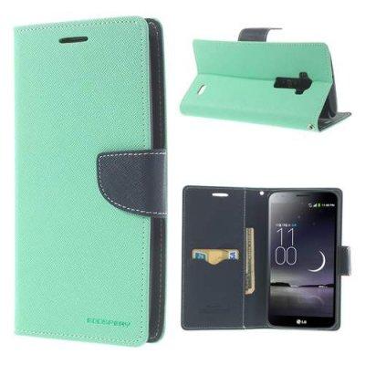 Plånboksfodral till LG G Flex Mercury Fancy Diary Mintgrön