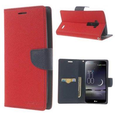 Plånboksfodral till LG G Flex Mercury Fancy Diary Röd