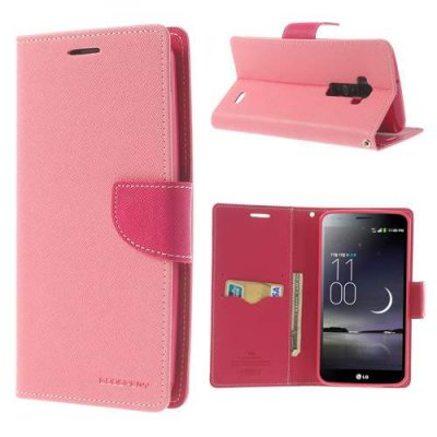 Plånboksfodral till LG G Flex Mercury Fancy Diary Rosa