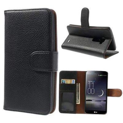 Plånboksfodral till LG G Flex Svart