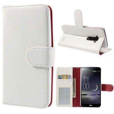 Plånboksfodral till LG G Flex Vit
