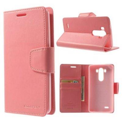 Plånboksfodral Mercury Sonata Diary till LG G3 D850/D855 Rosa