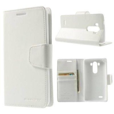 Plånboksfodral Mercury Sonata Diary till LG G3 D850/D855 Vit