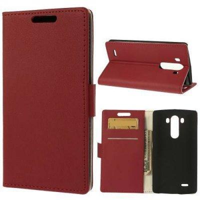 Plånboksfodral till LG G3 D850/D855 Med stativfunktion - Röd