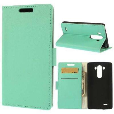 Plånboksfodral till LG G3 D850/D855 Med stativfunktion -Mintgrön