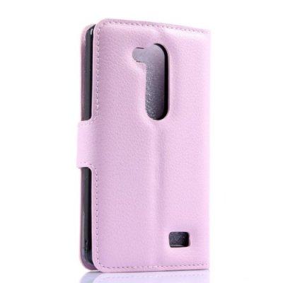 Plånboksfodral litchi till LG L Fino D290n Rosa