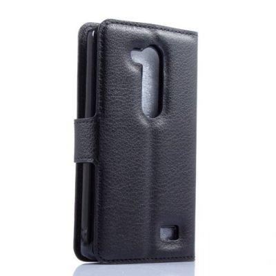 Plånboksfodral litchi till LG L Fino D290n Svart