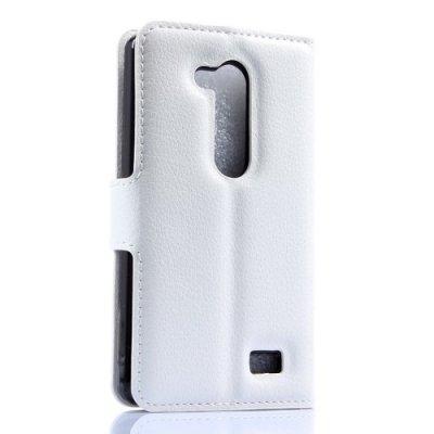 Plånboksfodral litchi till LG L Fino D290n Vit