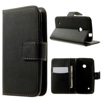 Plånboksfodral till Nokia Lumia 530 Svart