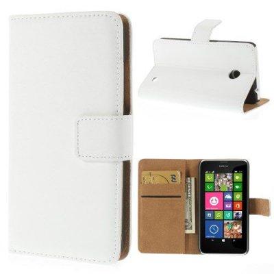 Plånboksfodral Vit till Nokia Lumia 635 med mjuk insida