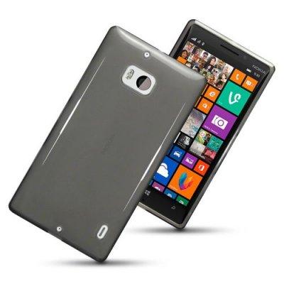 Flexibelt Skal till Nokia Lumia 930 Svart / Transparent