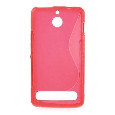 Flexibelt Skal S-Design till Sony Xperia E1 Röd
