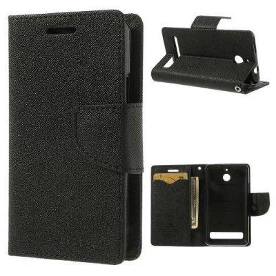 Plånboksfodral Fancy Diary till Sony Xperia E1 Svart