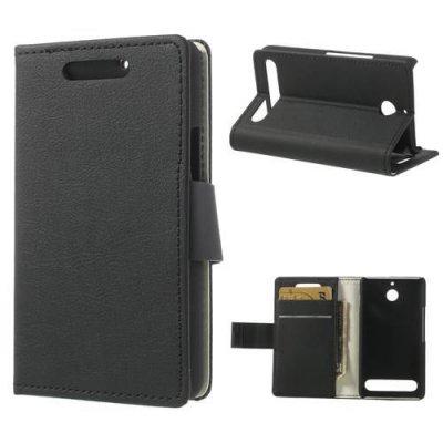 Plånboksfodral till Sony Xperia E1 - Svart