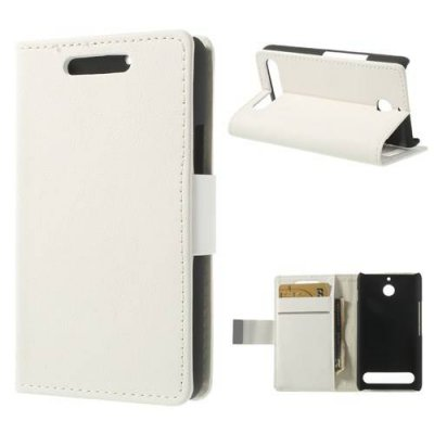 Plånboksfodral till Sony Xperia E1 - Vit