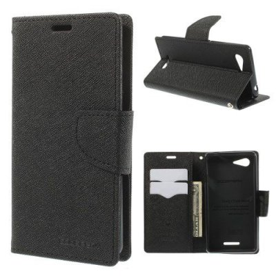 Plånboksfodral Mercury till Sony Xperia E3 Svart