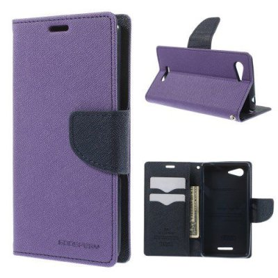 Plånboksfodral Mercury till Sony Xperia E3 Lila/Svart