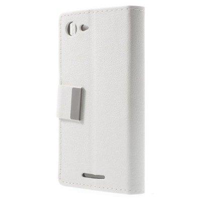 Plånboksfodral till Sony Xperia E3 - Vit