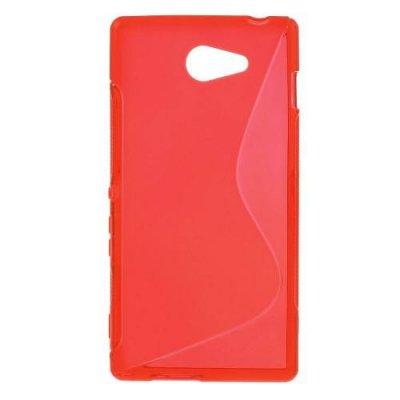 Flexibelt Skal S-Design till Sony Xperia M2 Röd
