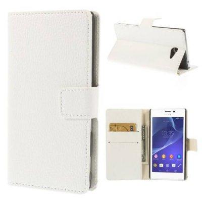 Plånboksfodral till Sony Xperia M2 - Vit