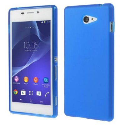 Sony Xperia M2 TPU Skal Blå med frostad matt yta
