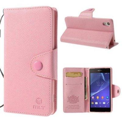 MLT Plånboksfodral till Sony Xperia Z2 Rosa