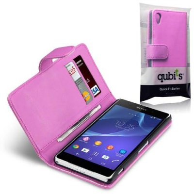 Qubits Plånboksfodral till Sony Xperia Z2 - Rosa