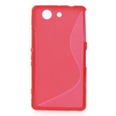 Flexibelt S-Design Skal till Sony Xperia Z3 Compact Röd