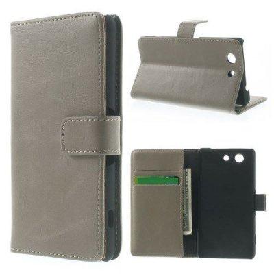 Klassisk Plånboksfodral till Sony Xperia Z3 Compact i Beige