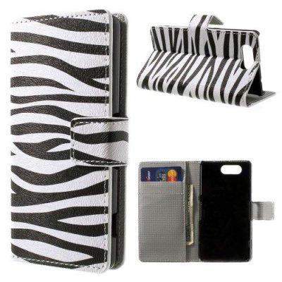 Plånboksfodral Sony Xperia Z3 Compact Zebra Svart/Vit
