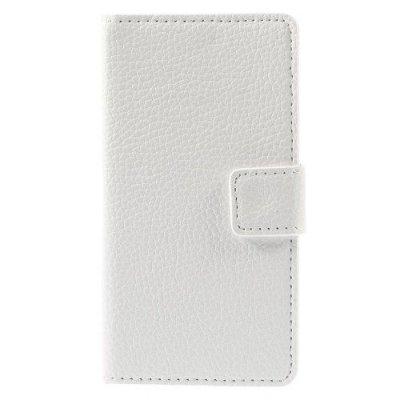 Plånboksfodral Vit litchi till Sony Xperia Z3 Compact