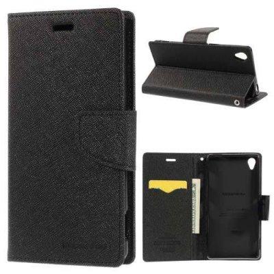 Plånboksfodral Fancy Diary till Sony Xperia Z3 Svart