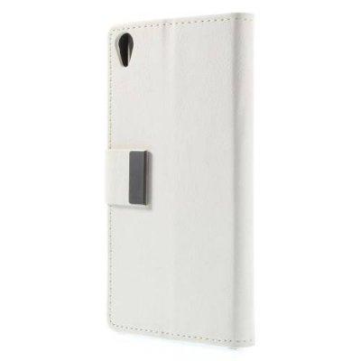 Plånboksfodral litchi till Sony Xperia Z3 - Vit
