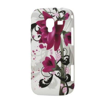Skal till Samsung Galaxy Ace 2 vit / blommor