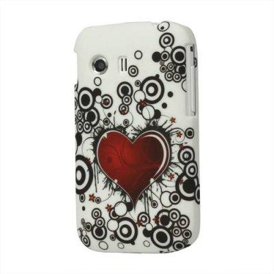 Skal till Samsung Galaxy Y Hjärta röd