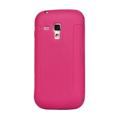 Skal till Samsung Galaxy Trend S7560/S7562 TPU Röd/Rosa