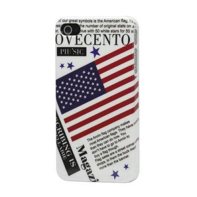 Hårt Skal till iPhone 4 4S med motiv Amerikanska flagga