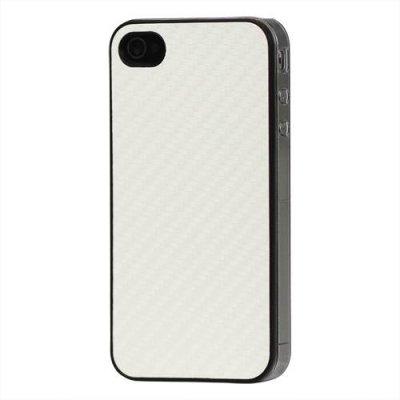 Hårt Skal till iPhone 4 4S Vit kolfiber