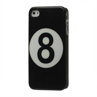 Hårt Skal till iPhone 4 4S Svart med motiv siffran 8