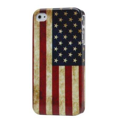 Hårt Skal till iPhone 4 4S Med motiv USA flagga