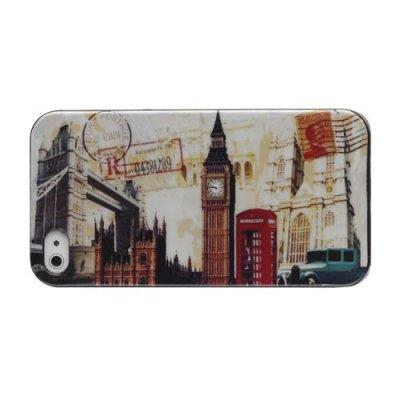 Hårt Skal till iPhone 4 4S Svart med motiv (London)